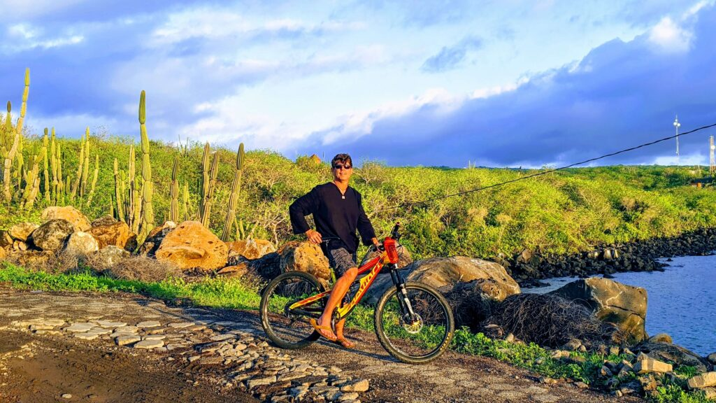 Biking in the Galapagos is on a budget as bicycles are not expensive to rent here