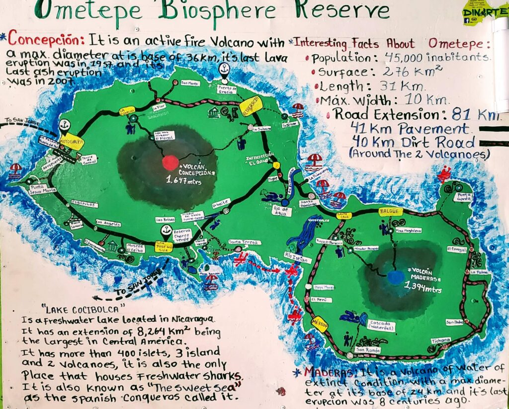 Local Map - affordable paradise on Ometepe