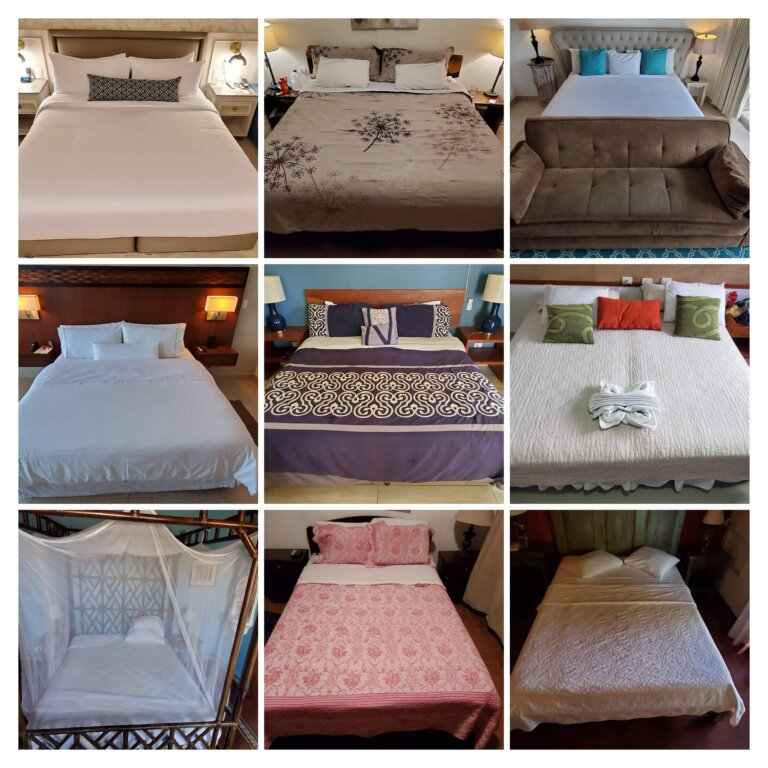 How many different beds in 2 years