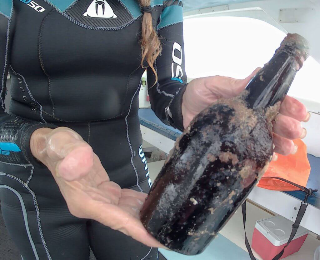 Living in Barbados - finding centuries old rum bottles at the bottom of the ocean