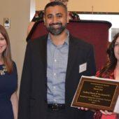 Bhavik Patel receiving award