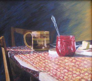 """Coffee and Jam"", Acrylic on canvas"