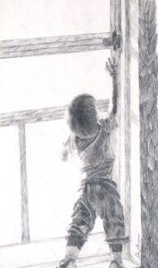 """Headin' out"", pencil by John Huisman"