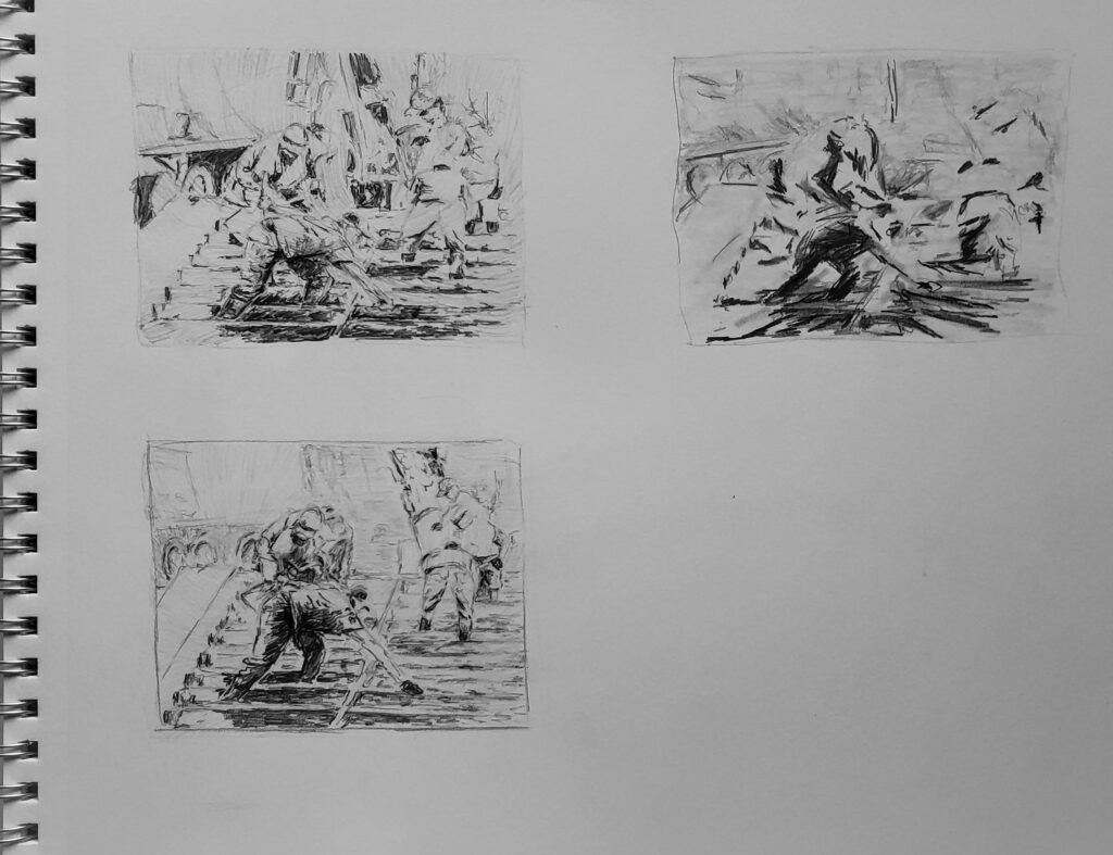 Pencil sketch John Huisman (3)