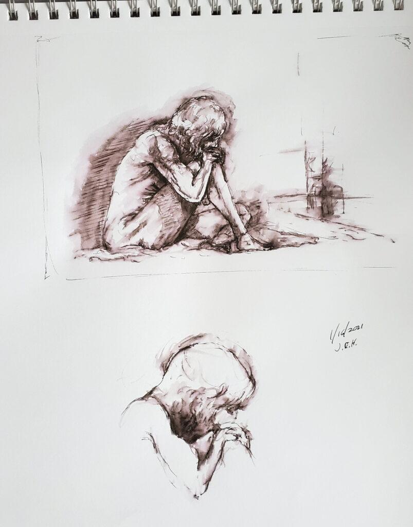 Figure drawing at AWE