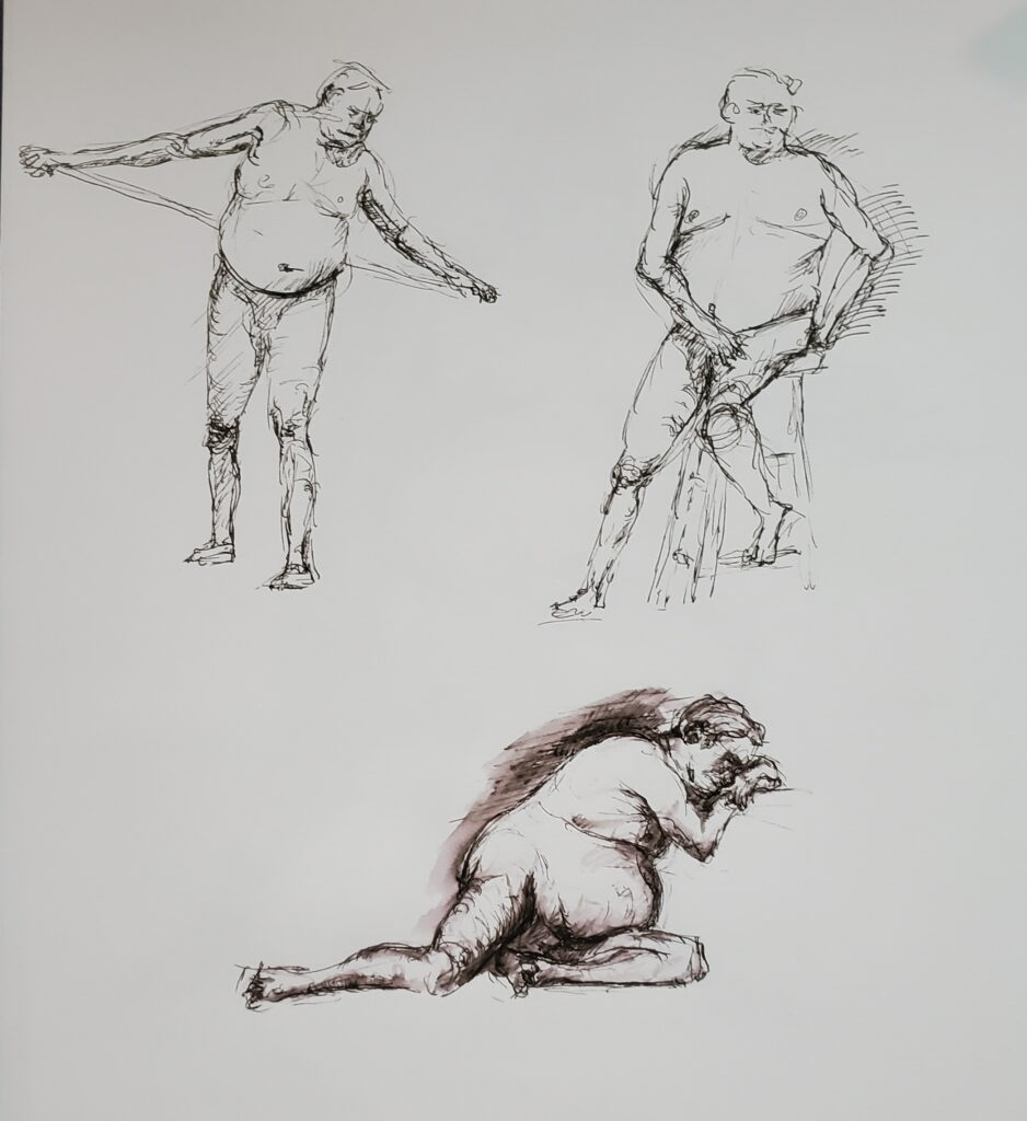 Art works figure drawing session 1/25/21