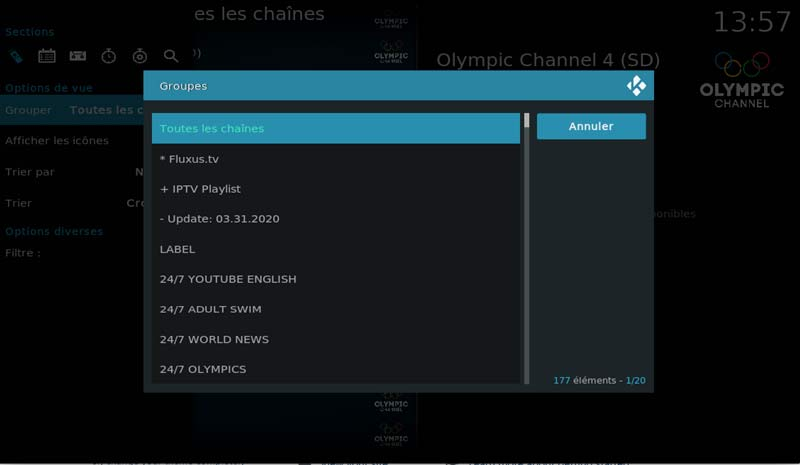 pvr groups channels