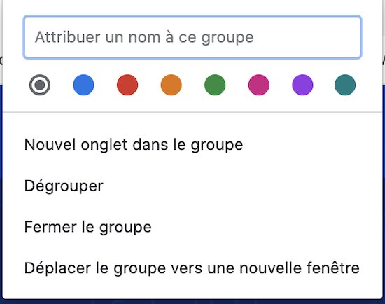 onglet groupe
