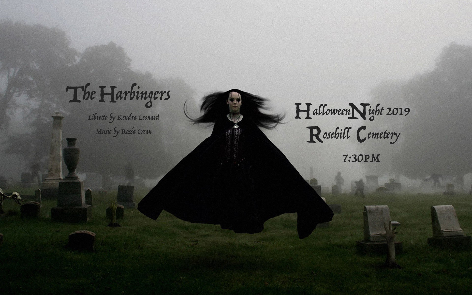harbingers rosehill cemetery halloween rossa crean