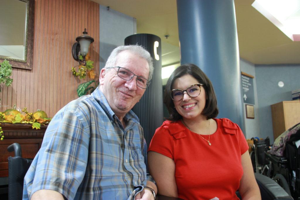 The resident Mario Chiasson with Amelia Joudcar