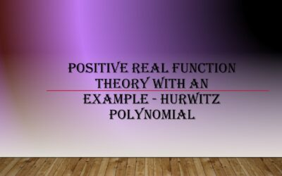 Positive Real Function Test