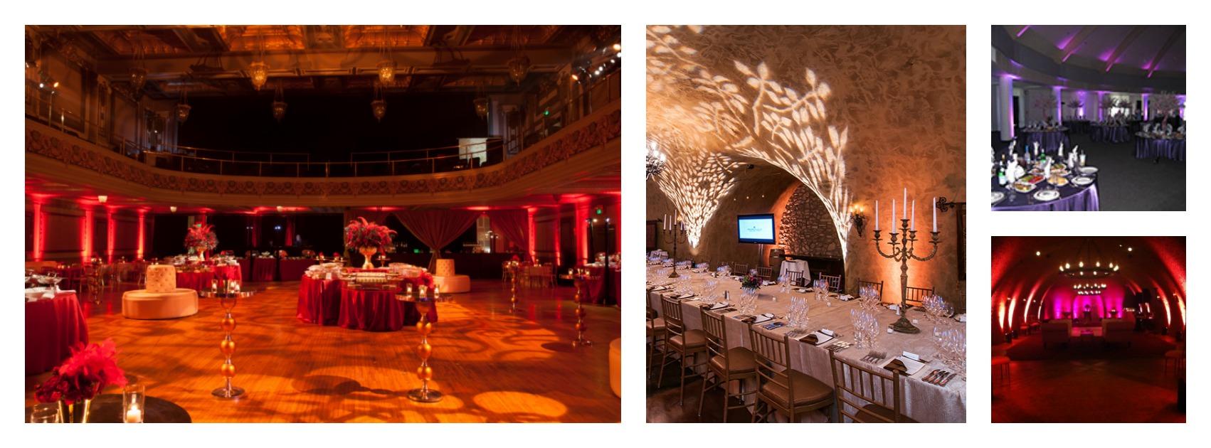 Decor lighting transforms a plain hall into a palace