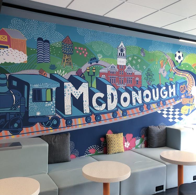 The Train Through McDonough Mural