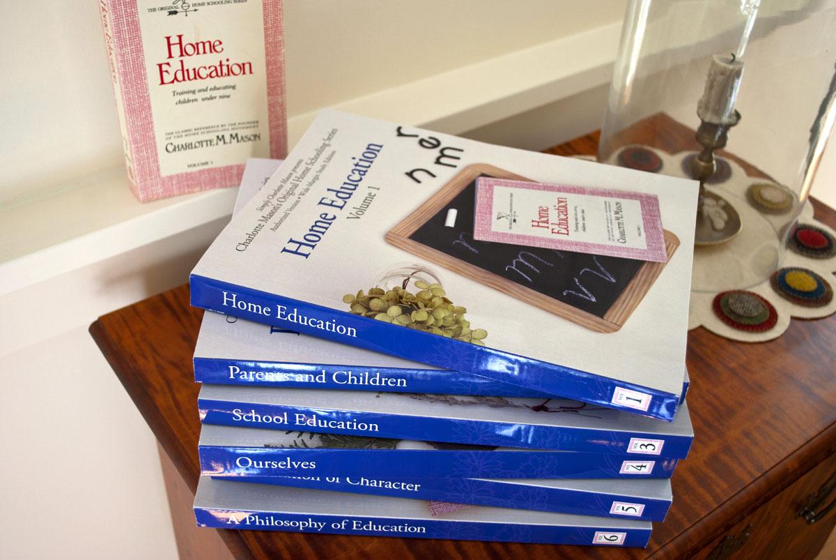 Charlotte Masons's Original Homeschooling Series six volume set pile new edition.