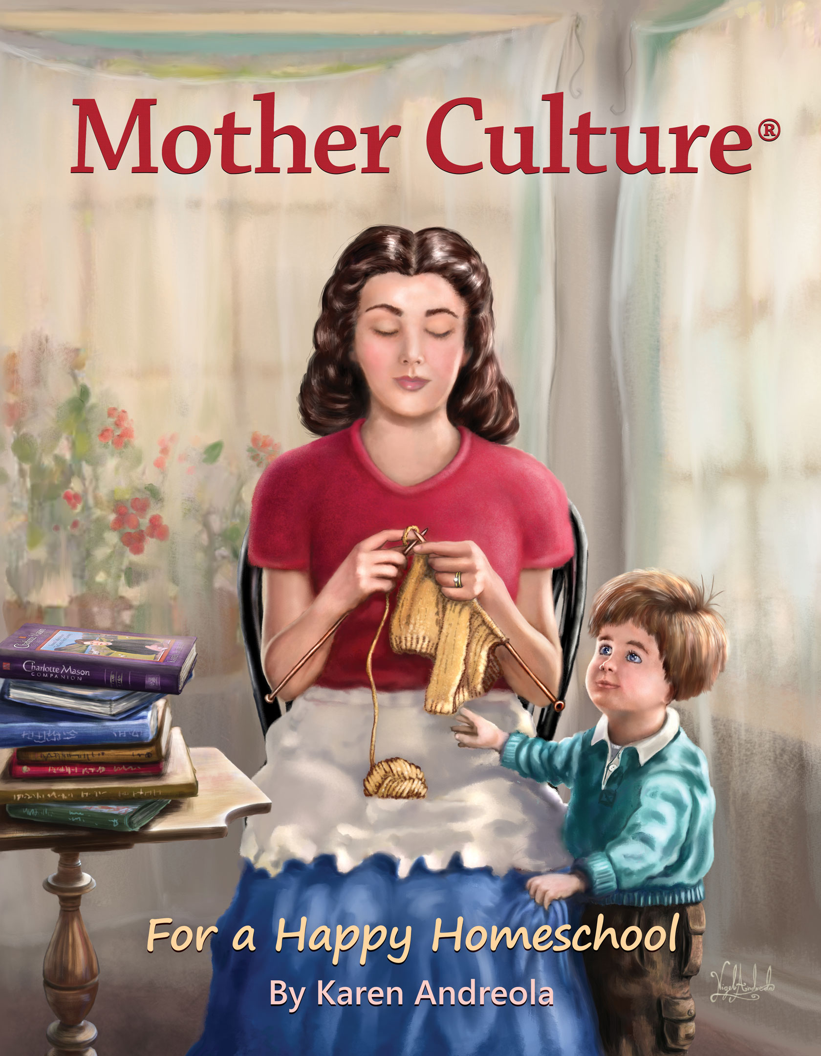 Mother Culture - Karen-Andreola - front book cover painted by Nigel Andreola