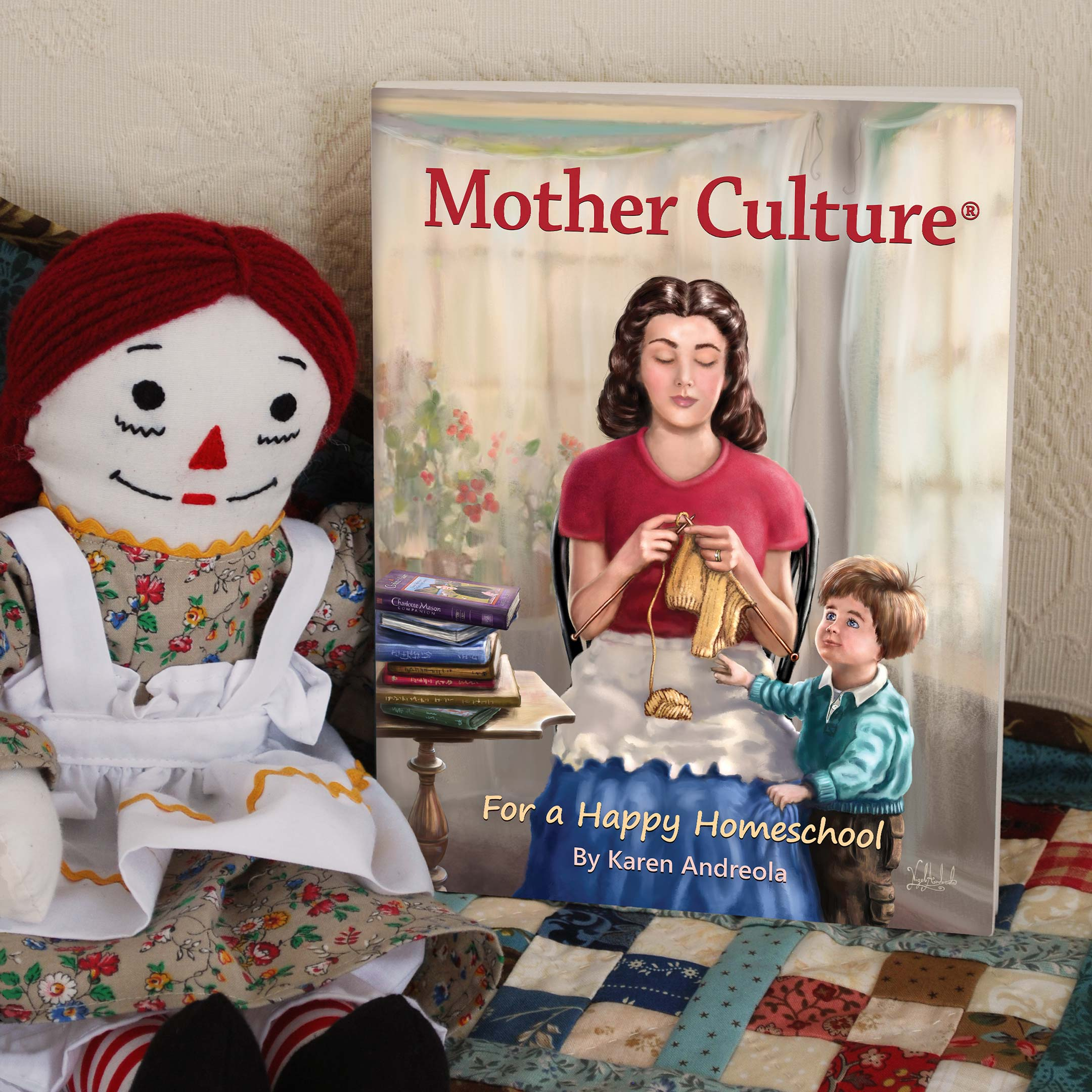 Mother Culture book cover painted by Nigel Andreola