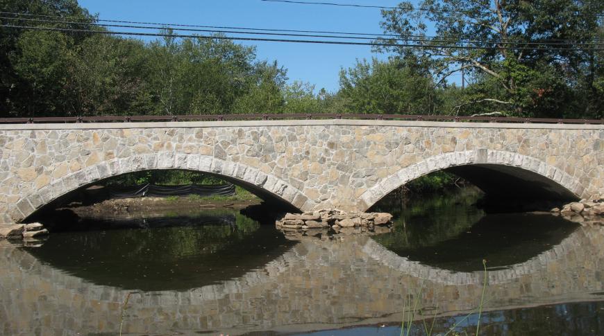 Pleasant Street Bridge over the Blackstone River in Grafton.