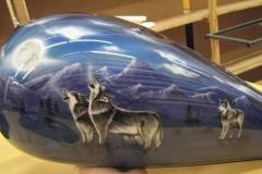 Airbrushed Motorcycle
