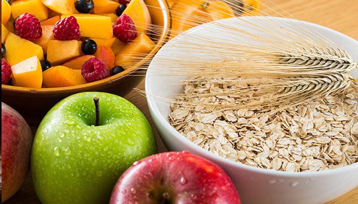 fruits and grains full of fiber