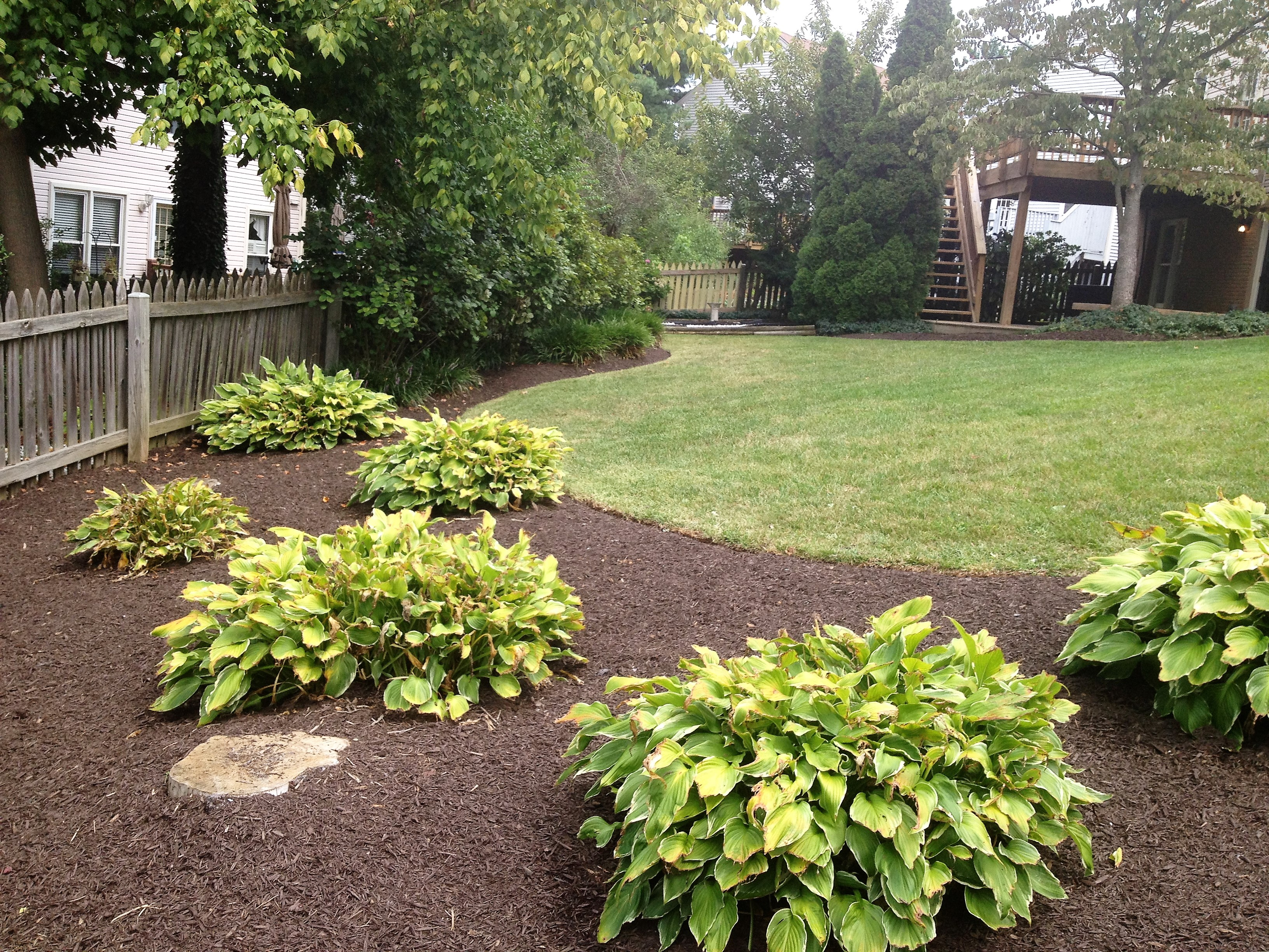 After landscaping in Germantown, MD, USA