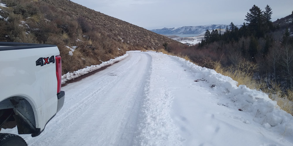 Temple Canyon Snowmobile Access in the Bear Lake Valley Utah