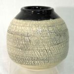 10D Faye Ormseth Textured Black and White Sphere (2)