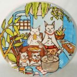 1A Tiffany Lusk Kitty Cats Platter
