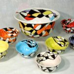 21C Renata Vigoda Harlequin Bowl set