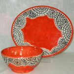 4F Mayra Laracuente Zinnia Bowl and Platter