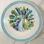 Take A Chance Judith Chinski Peacock Bowl