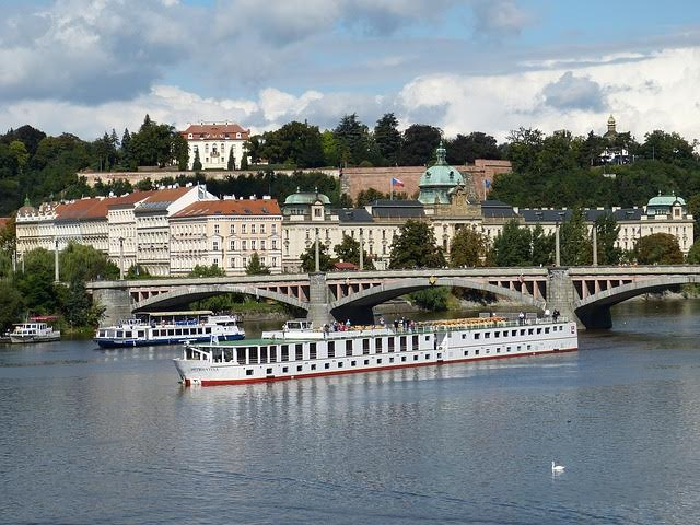 Sailing on the Danube River in Europe