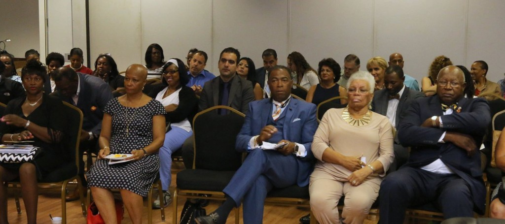 Audience listens intently at the WMBE seminar held at the African American Museum Hempstead New York.