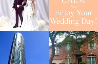 Malia and MJ Wedding Day Condo and House Collage