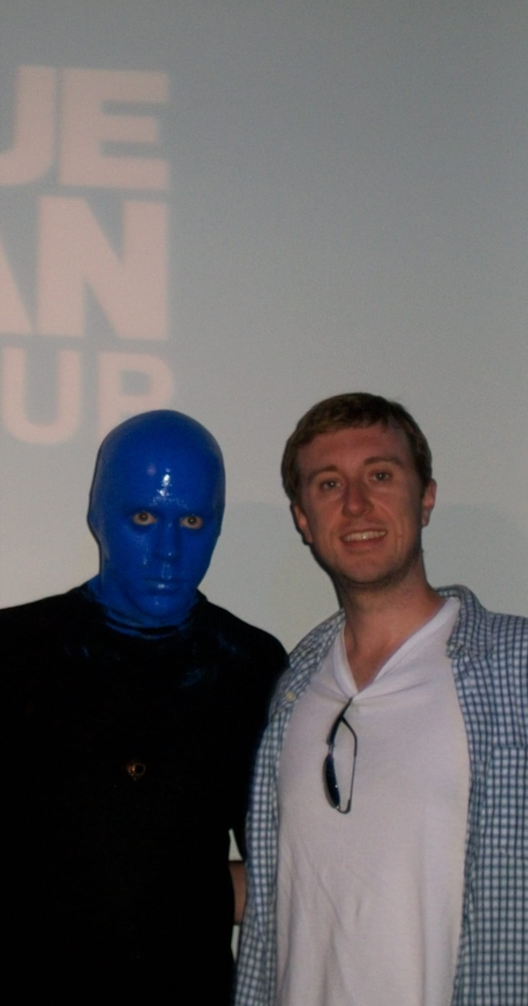 """Blue Man Group and Michael """"MJ The Terrible"""" Johnson Photo"""