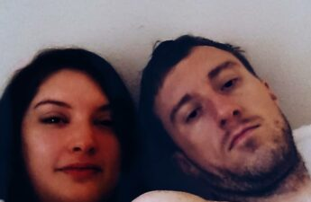 Malia and Michael MJ The Terrible Johnson Laying In Bed Selfie