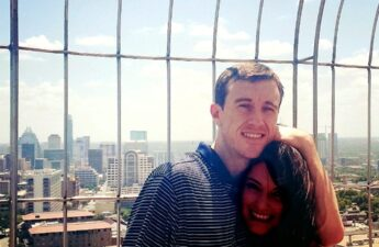 """Malia and Michael """"MJ The Terrible"""" Johnson At The Top of University of Texas Tower In Austin Texas"""