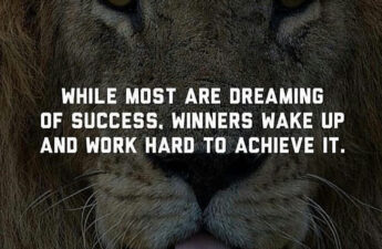 While Most Are Dreaming of Success winners wake up and work hard to achieve it. Masters of Money Picture Quote