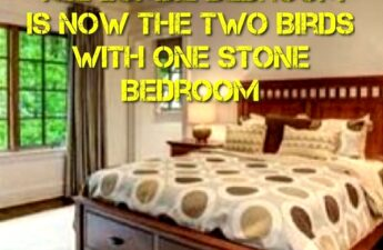 THE ZOMBIE BEDROOM IS NOW THE TWO BEDS WITH ONE STONE BEDROOM POST PHOTO
