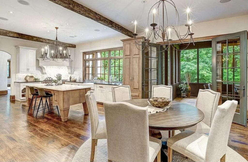 """Malia and Michael """"MJ The Terrible"""" Johnson Bethesda Maryland House Dining Room Attached to Kitchen Photo"""