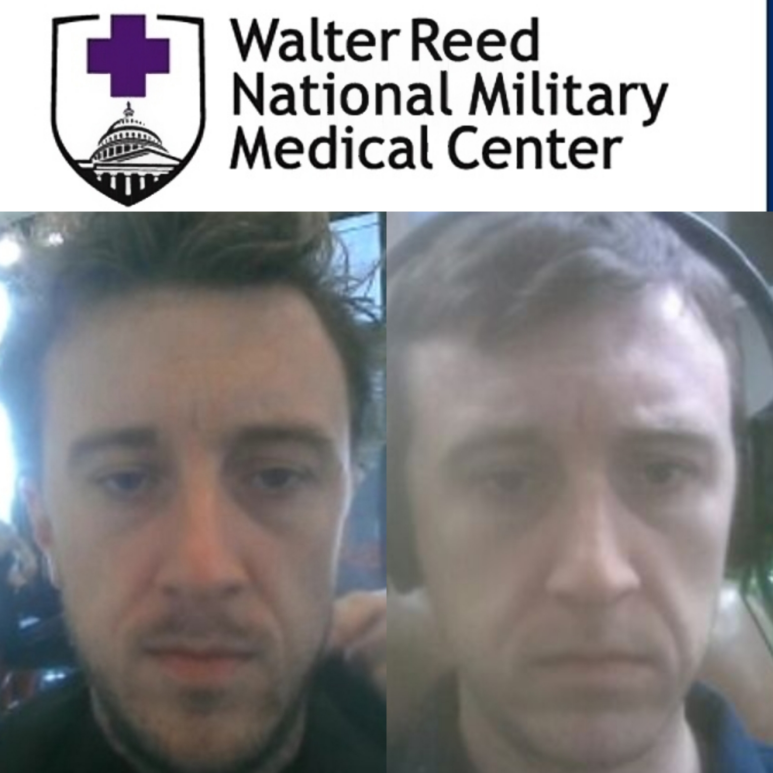 """Walter Reed Military Medical Center Michael """"MJ The Terrible"""" Johnson Haircut Shave and Mental Health Assessment Collage"""