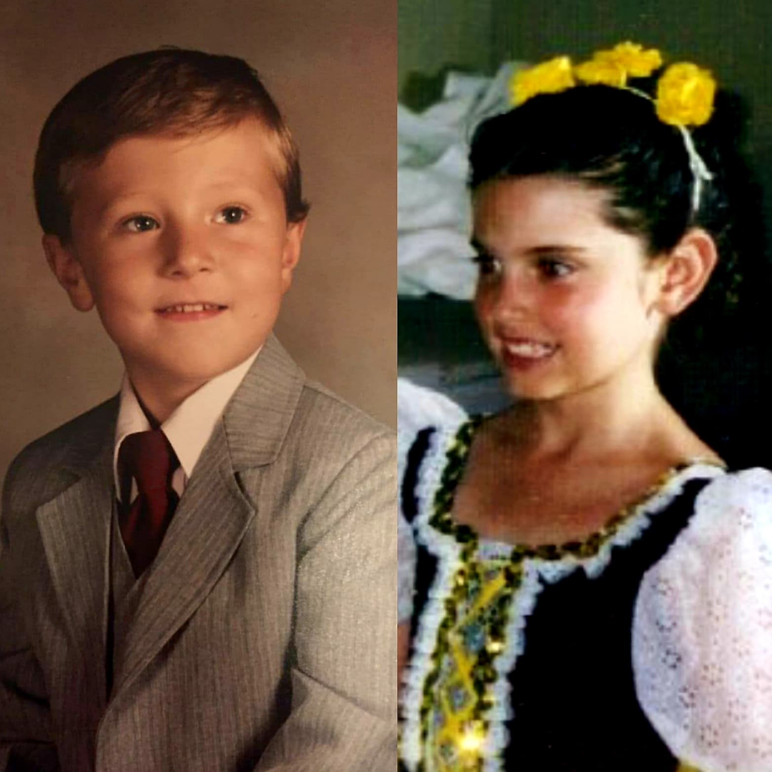 Malia May Johnson and Michael MJ The Terrible Johnson pictures at 7 years old collage