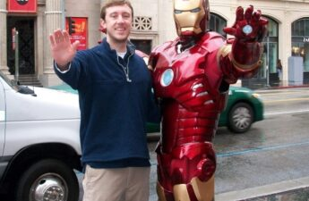 Michael MJ The Terrible Johnson and Iron Man Photo taken in Los Angeles California