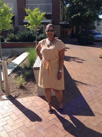Pretty Polka Dot Dress with Vogue 1395