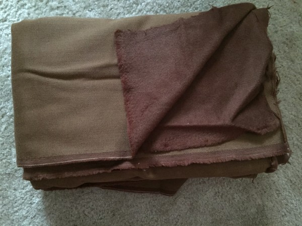 Brown Wool / Cashmere Fabric