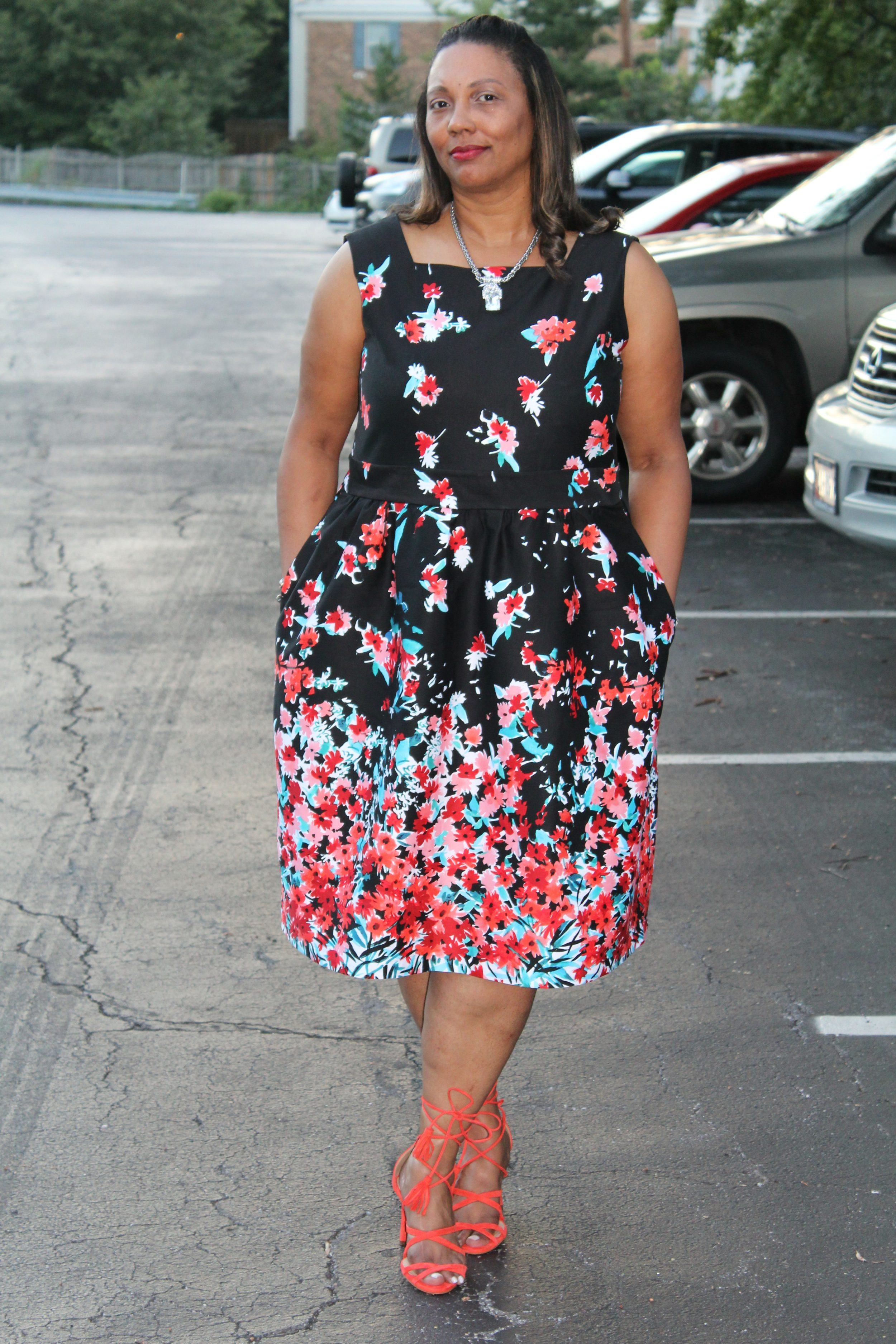 Backless Floral Dress McCalls 3673