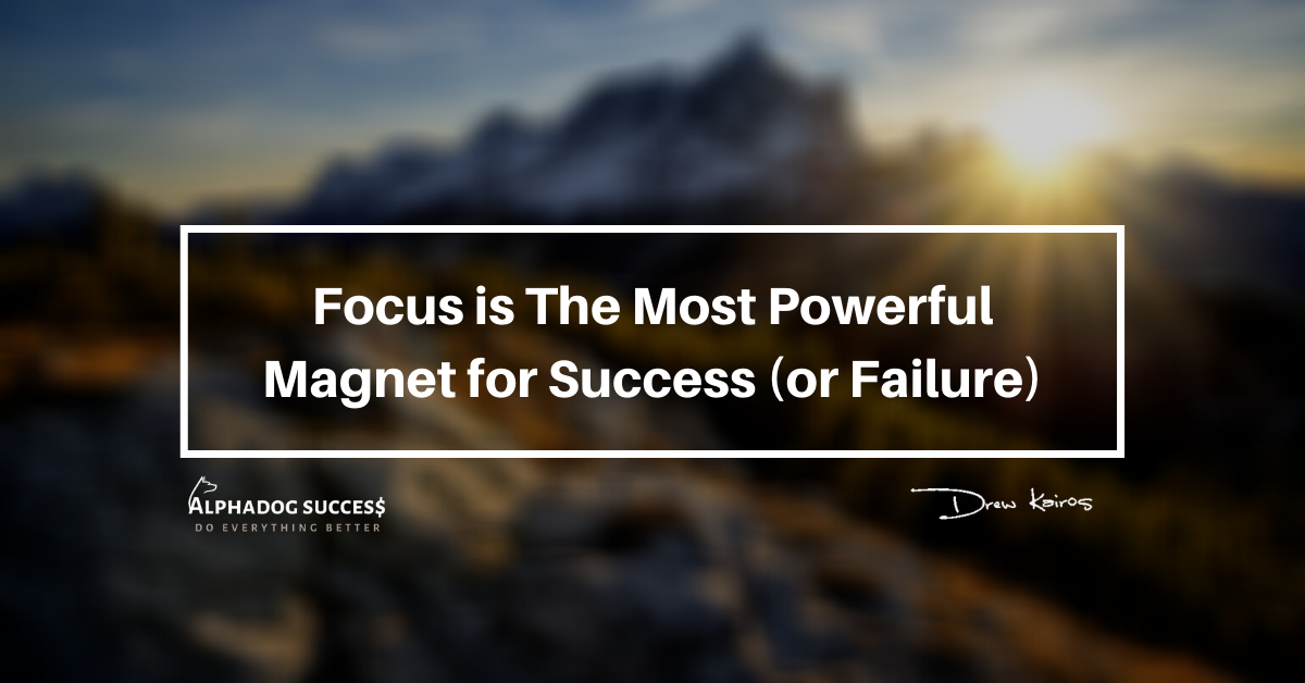 Focus is the most powerful magnet for success