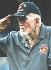 Image of Jerry Ingram saluting at Royals Game.