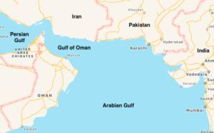 Map of Gulf of Oman