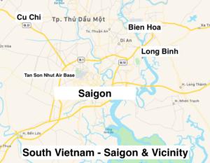 Map of Saigon and vicinity