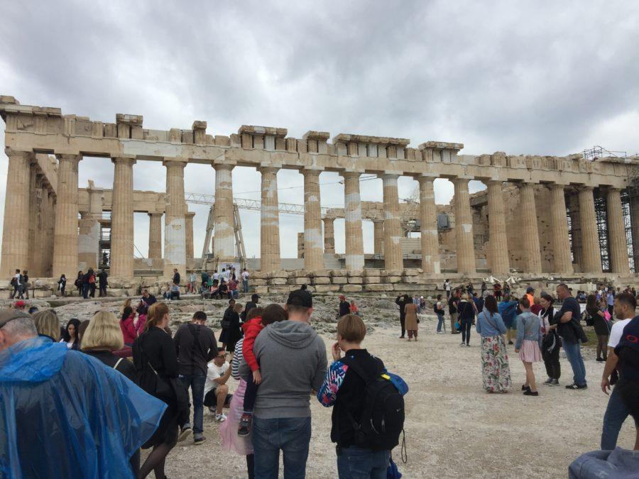Photo of the Parthenon atop the Acropolis in Athens, Greece